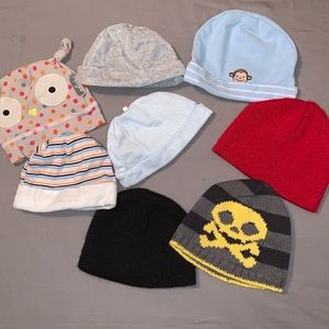Lot of 8 Baby Hats
